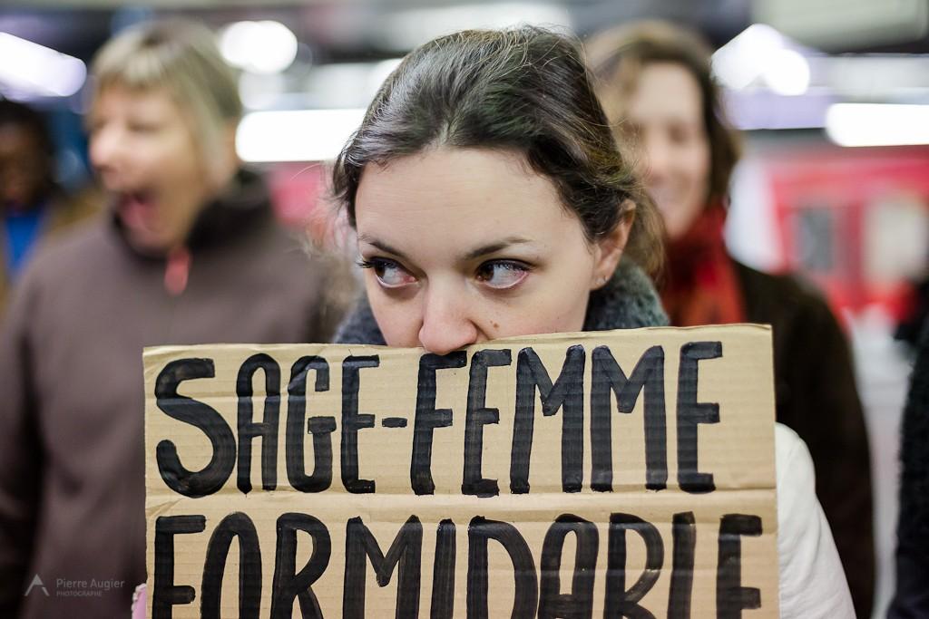 3eme Greve nationale des Sages Femmes - 19-02-2014