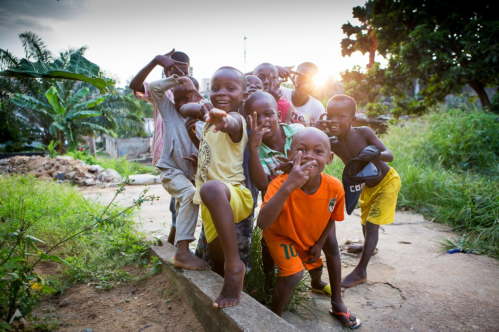 Childrens of Yopougon, popular suburb of Abidjan, Ivory Coast